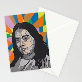 """YOGANANDA"" Montana Gold Spray Paint and acrylic on birch panel 20"" x 24"" x 2""  Stationery Cards"