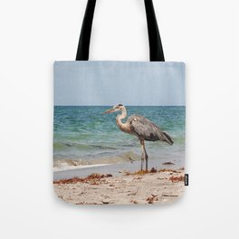 Heron Sand and Surf Tote Bag