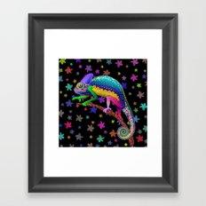 Chameleon Fantasy Rainbow Colors Framed Art Print