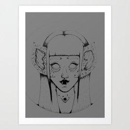 Bat princess  Art Print