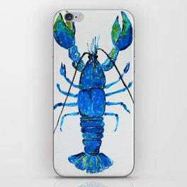 Blue Lobster Wall Art, Lobster Bathroom Decor, Lobster Crustacean Marine Biology iPhone Skin