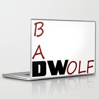 bad wolf Laptop & iPad Skins featuring Bad Wolf by DocPastor