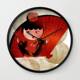 Papas y flamenco Wall Clock