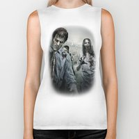 walking dead Biker Tanks featuring Zombie by Joe Roberts