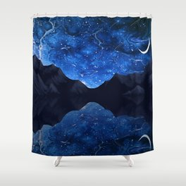 Moonlit Awakening Shower Curtain