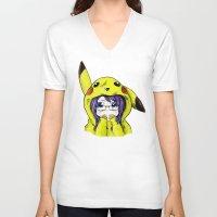 onesie V-neck T-shirts featuring Onesie by VerticalSynapse