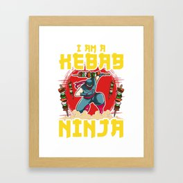 Kebab Ninja Framed Art Print