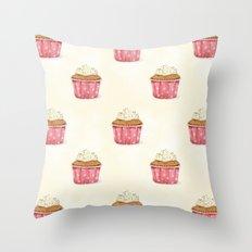 Cupcakes pattern Throw Pillow