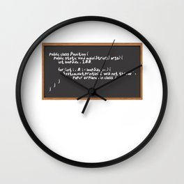 Code punition Wall Clock