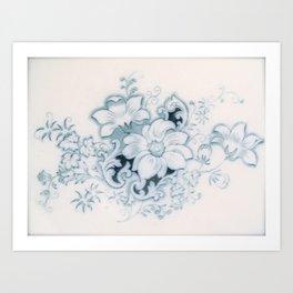 Vintage Flower Flow Art Print