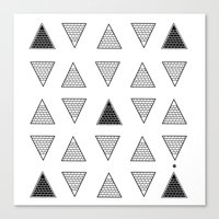 triangle Canvas Prints featuring Triangle by Emmanuelle Ly