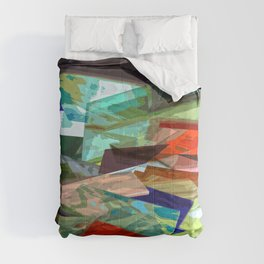Colourful abstract artwork Comforters