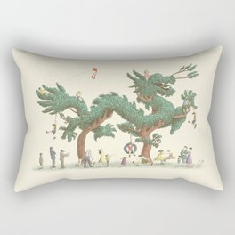 The Night Gardener - Dragon Topiary  Rectangular Pillow