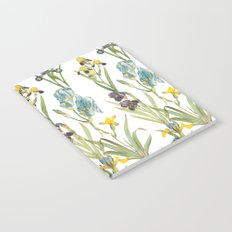 Vintage Floral Pattern | No. 2B | Iris Flowers | Irises Notebook