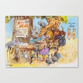 miss africa Canvas Print