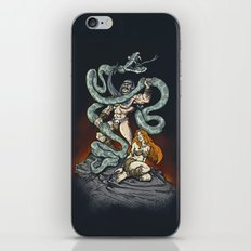 MANLY MAN FIGHTS MANLY iPhone & iPod Skin