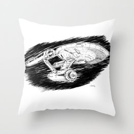USS Enterprise Throw Pillow