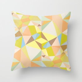 Pastel Earth Tone Triangle Pattern Throw Pillow
