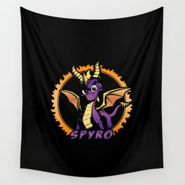 Mischievous Dragon Wall Tapestry