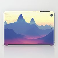 ashton irwin iPad Cases featuring Mountains of Another World by Phil Perkins