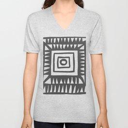 Tribal Print B&W- 02 Unisex V-Neck