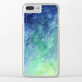 Northern Lights Sky Galaxy Clear iPhone Case