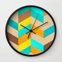 Abstract and minimalist lozenges Wall Clock