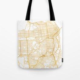 SAN FRANCISCO CALIFORNIA CITY STREET MAP ART Tote Bag