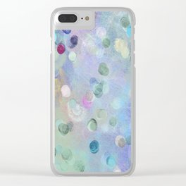 Watercolor Abstract Geometric Pattern Clear iPhone Case