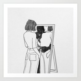 The reflection of your dreams. Art Print
