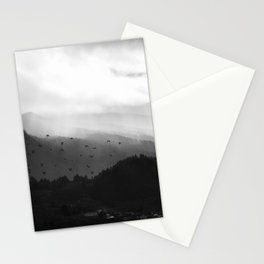 A foggy day in the hills Stationery Cards