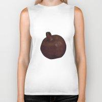 pomegranate Biker Tanks featuring Pomegranate by Antonina Sotnikova