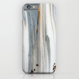 Gray Woodgrain  iPhone Case