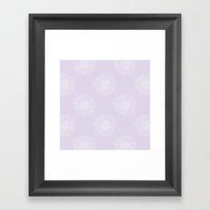 Lavender Chrysanthemum Framed Art Print