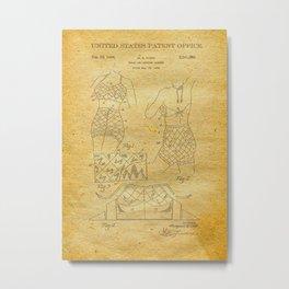 Bathing Suit Patent Metal Print