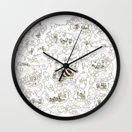 a swarm of bees (벌떼방클럽) Wall Clock