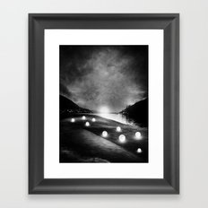 Field of lights (B&W) Framed Art Print