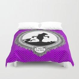 Alice's Adventures in Wonderland - Mad Tea Party Silhouette Duvet Cover