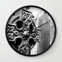 gothic Wall Clocks featuring Gothic by Kim Ramage