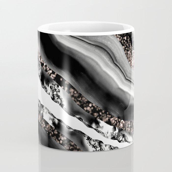 Agate Rose Gold Glitter Glam #3 #gem #decor #art #society6 Coffee Mug