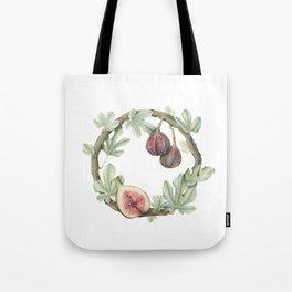 Fig Wreath Tote Bag