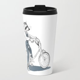 Raccoon bike Travel Mug