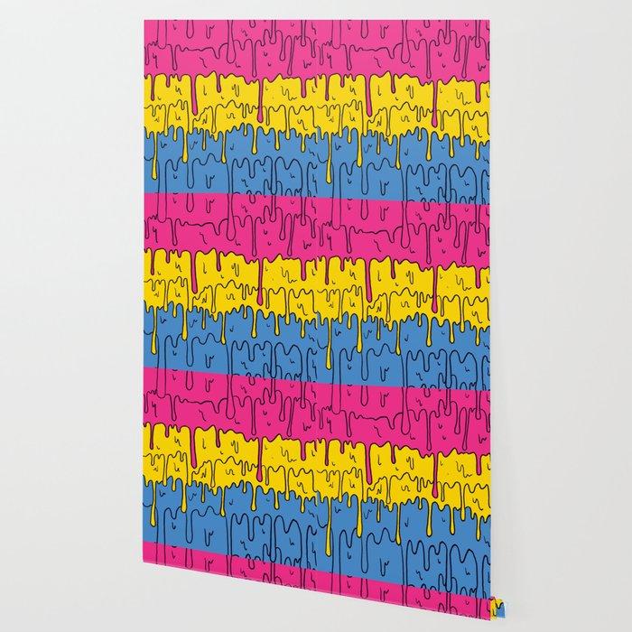 Pastel Kawaii Melting Pansexual Pride LGBTQ Design Wallpaper