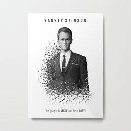Barney Stinson - Legendary! Metal Print