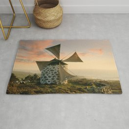 A rustic windmill in the Minho, north Portugal Rug