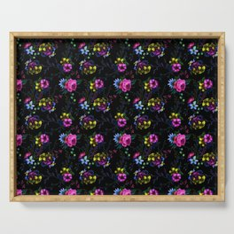 Flowers Glow In The Dark Serving Tray