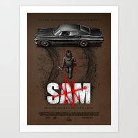 sam smith Art Prints featuring Sam by Six Eyed Monster
