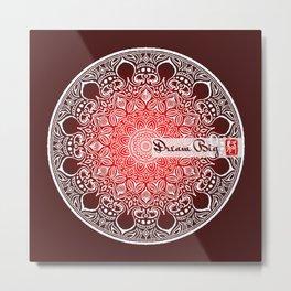 Mandala - Dream Big Metal Print
