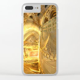 Open Furnace in Space Clear iPhone Case