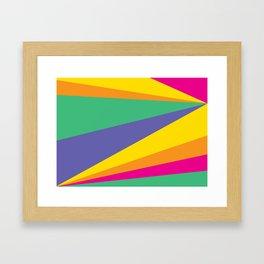 Color lighting Framed Art Print